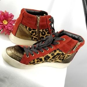 Sam Edelman | Leopard Hightop Sneaker